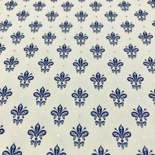 Wrapping paper BLUE LILIES