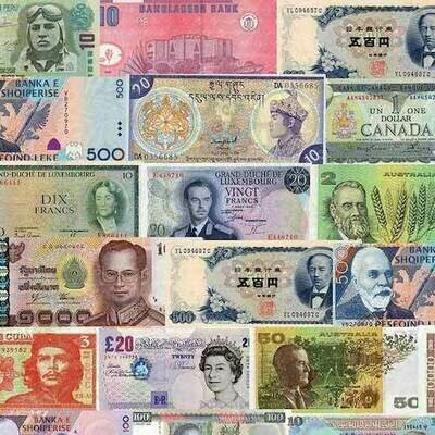 Wrapping paper BANKNOTES