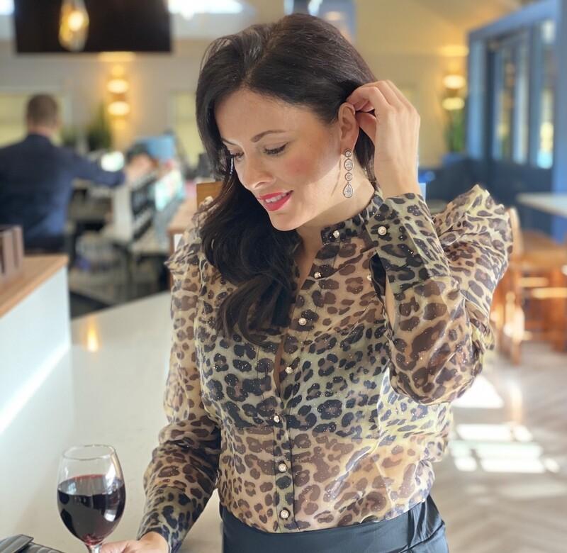 'Loving Leopard' Sheer Print Blouse