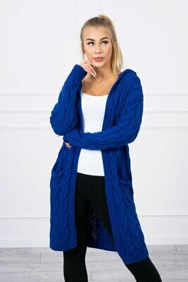 'Cable Cardi' in Royal Blue