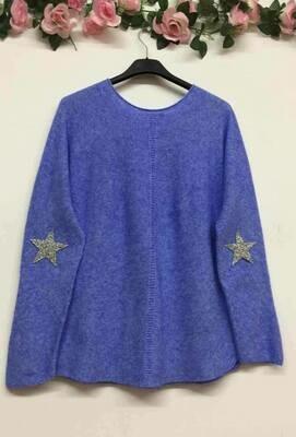 'Star' Comfy Knit in Vivid Blue