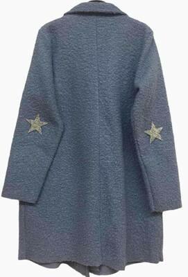 'Super-Star Coat' in Blue