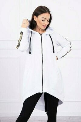 'Fashion Dipped Back Hoody' in White