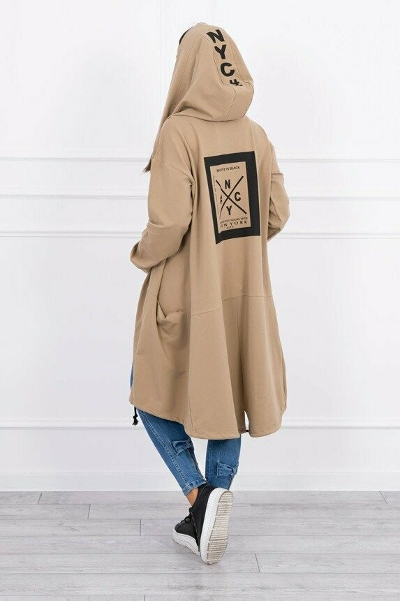 'NY  Cool Casual ' Hoody in Coffee Beige