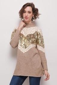 'Beige Sparkle' Knit Jumper