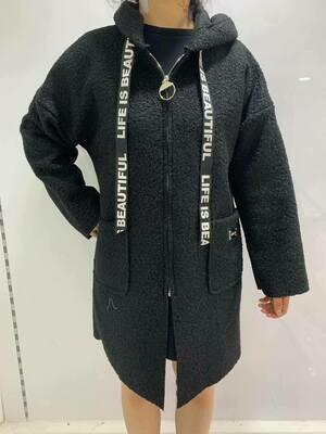'Beautiful Zipped Hoody' in Black
