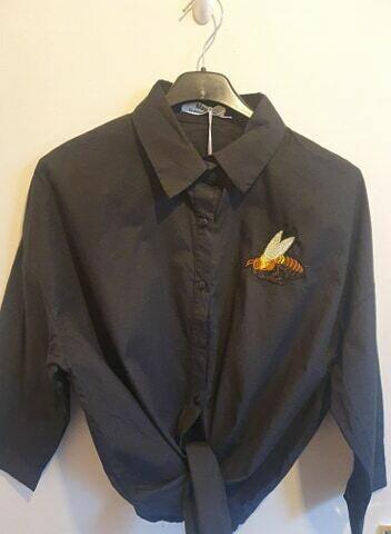 'Bee Nice' Shirt in Black