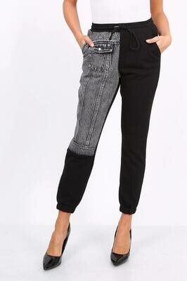 'Jean Injected' Jogger in Black
