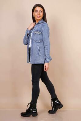 'Darci Denim' Jacket in Blue