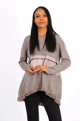 ''Ava' Easy Fine Knit Sweater