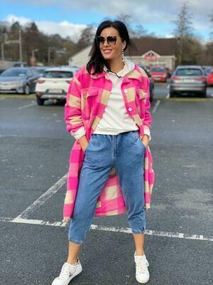 'Liuli Spring Shacket' in Flash Pink