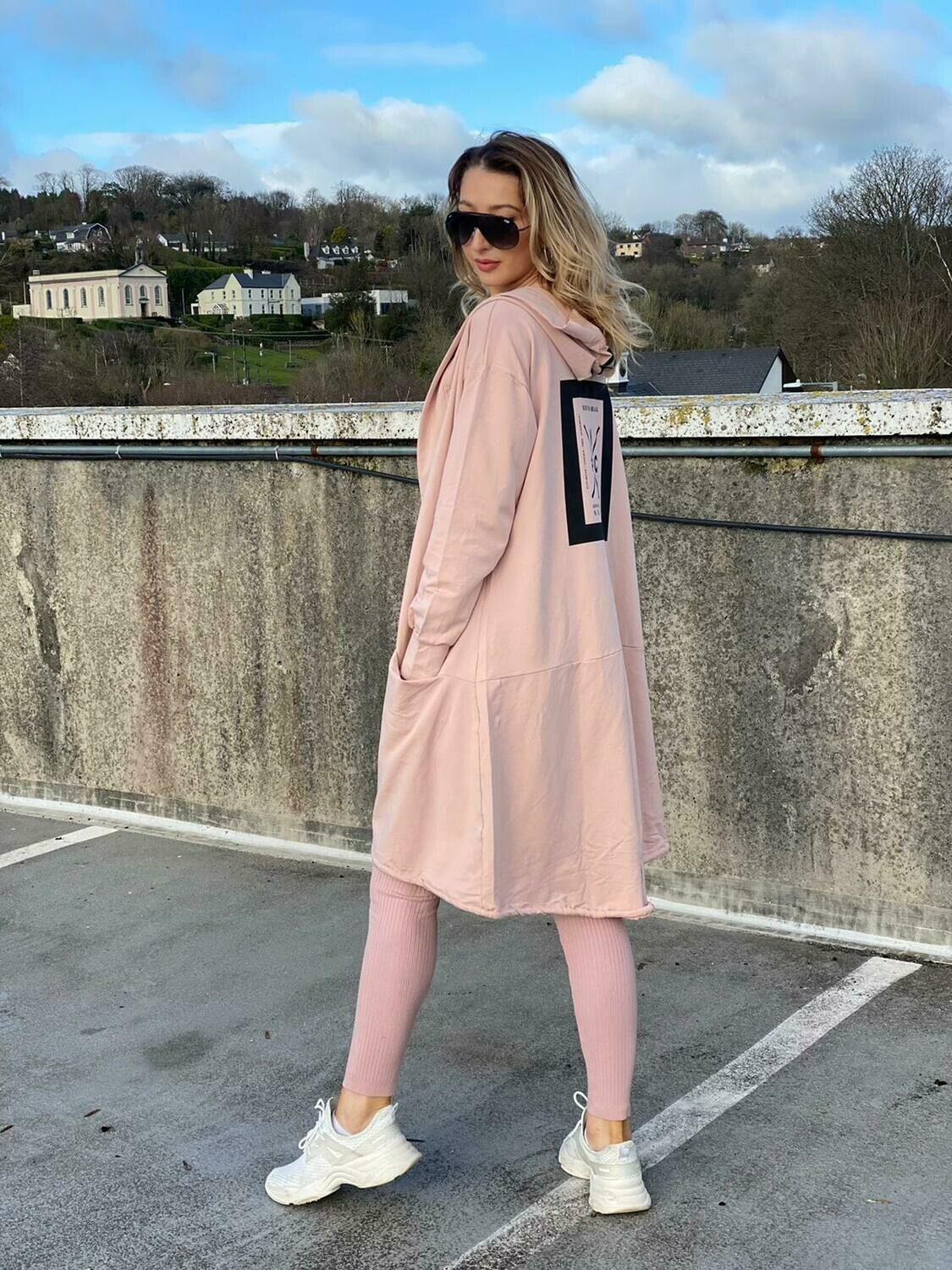 'NY Cool Casual' Hoody in Soft Pink