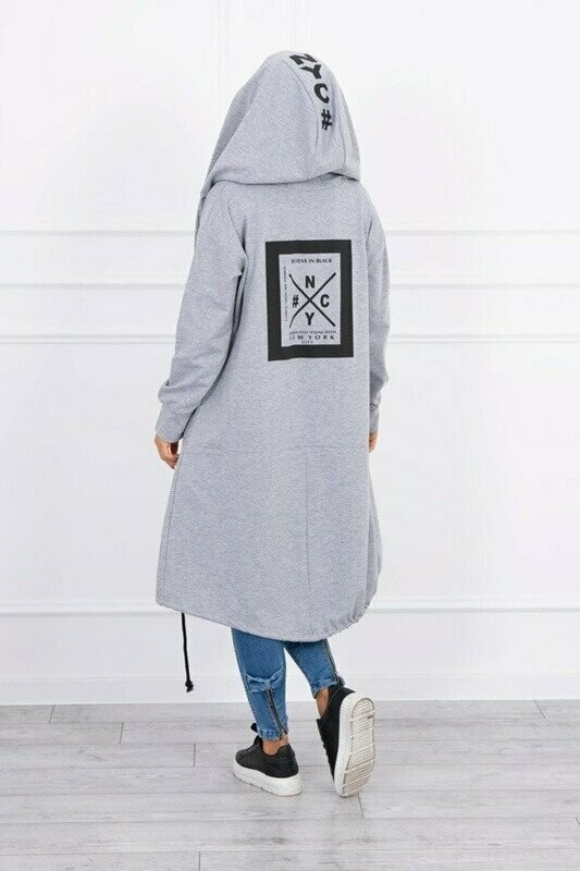 'NY  Cool Casual ' Hoody in Light Grey
