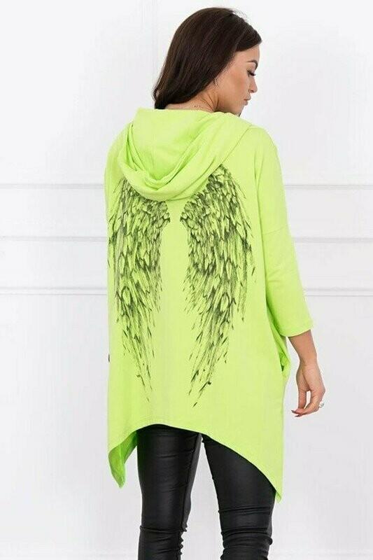 'Spring Angel Wings' Sweatshirt in Neon Citrus