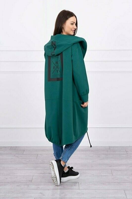 'NY  Cool Casual ' Hoody in Dark Green