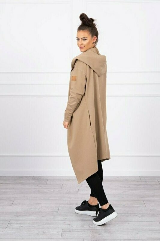 'Easy Sweat Hoody/Cardigan' in Camel Colour