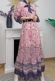 'Pink & Blush' Long Spring Dress