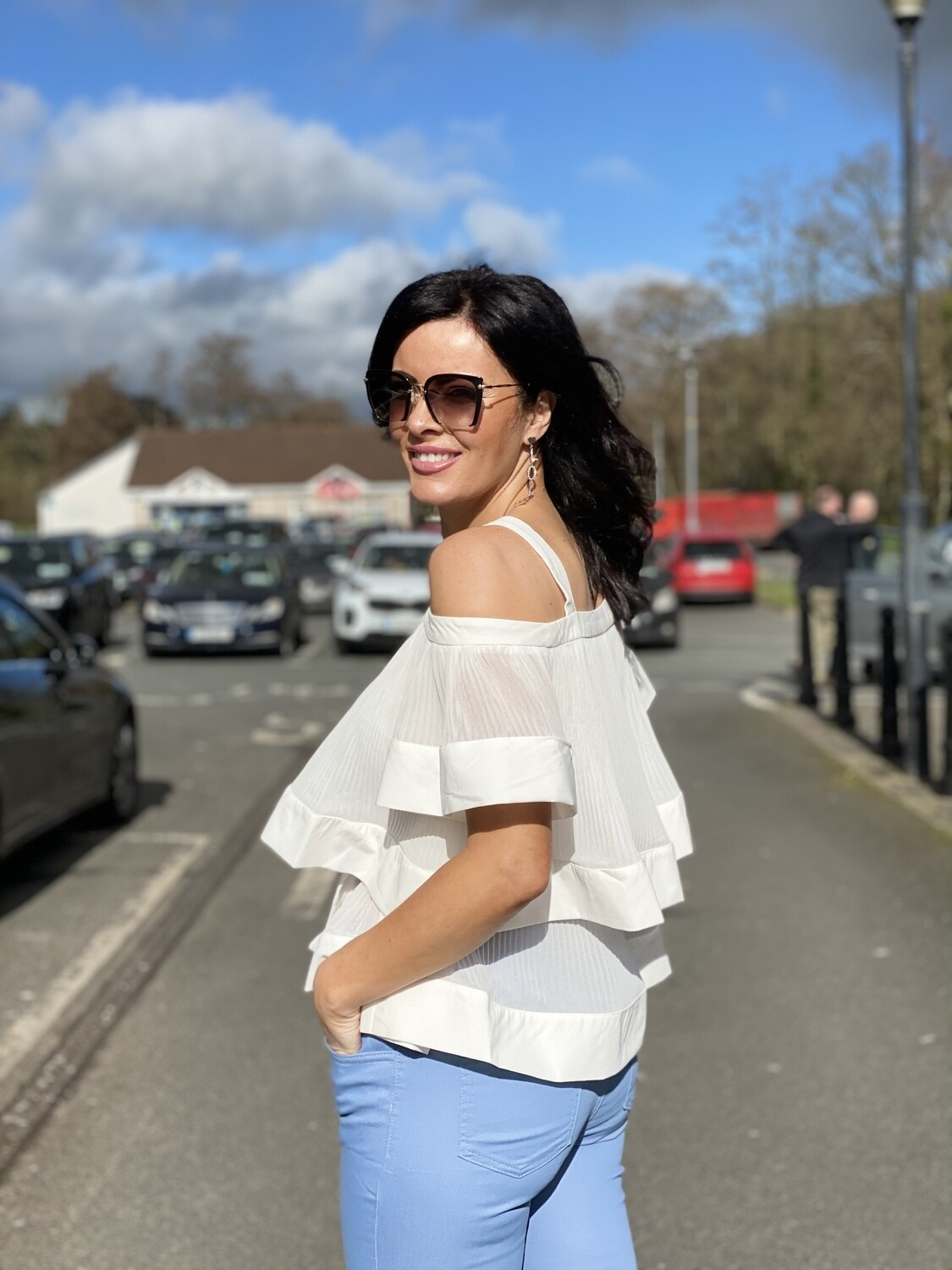 ' Ivory Butterfly'  Top