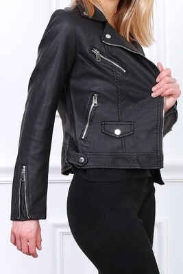 'Anastasia'  Faux  Leather Jacket