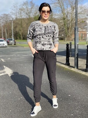 'Ainine' Combat Pants in Black
