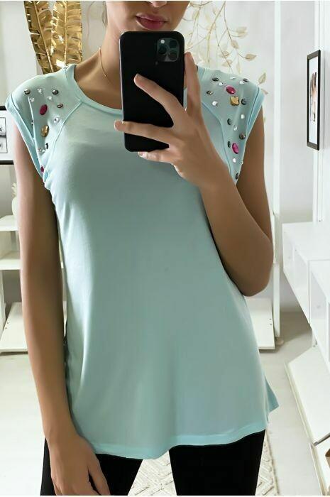 'It's a Gem' T-Shirt in Aqua Blue
