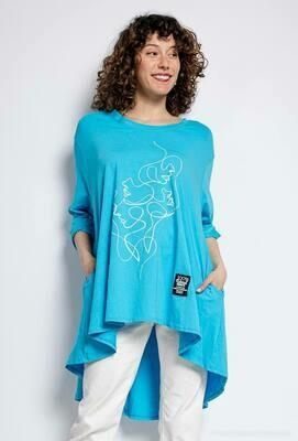 'Aqua Feel' Tunic/Sweatshirt