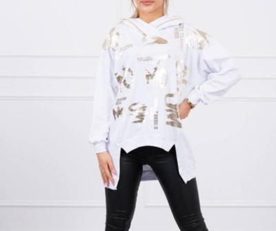 'Gold Leaf' Dipped Sweatshirt in White (Best Seller)
