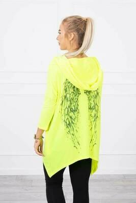 'Spring Angel' Sweatshirt in Neon Yellow