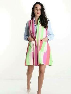 'Candy Crush' Multi Stripe Waistcoat
