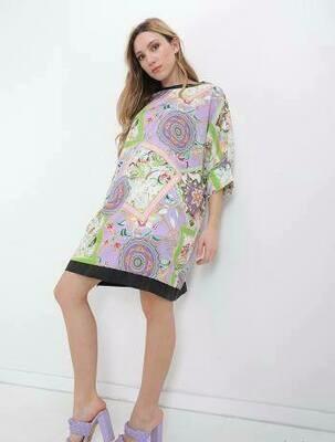 'Purple Paisley' Dress