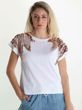 'Rose Gold' White T-Shirt