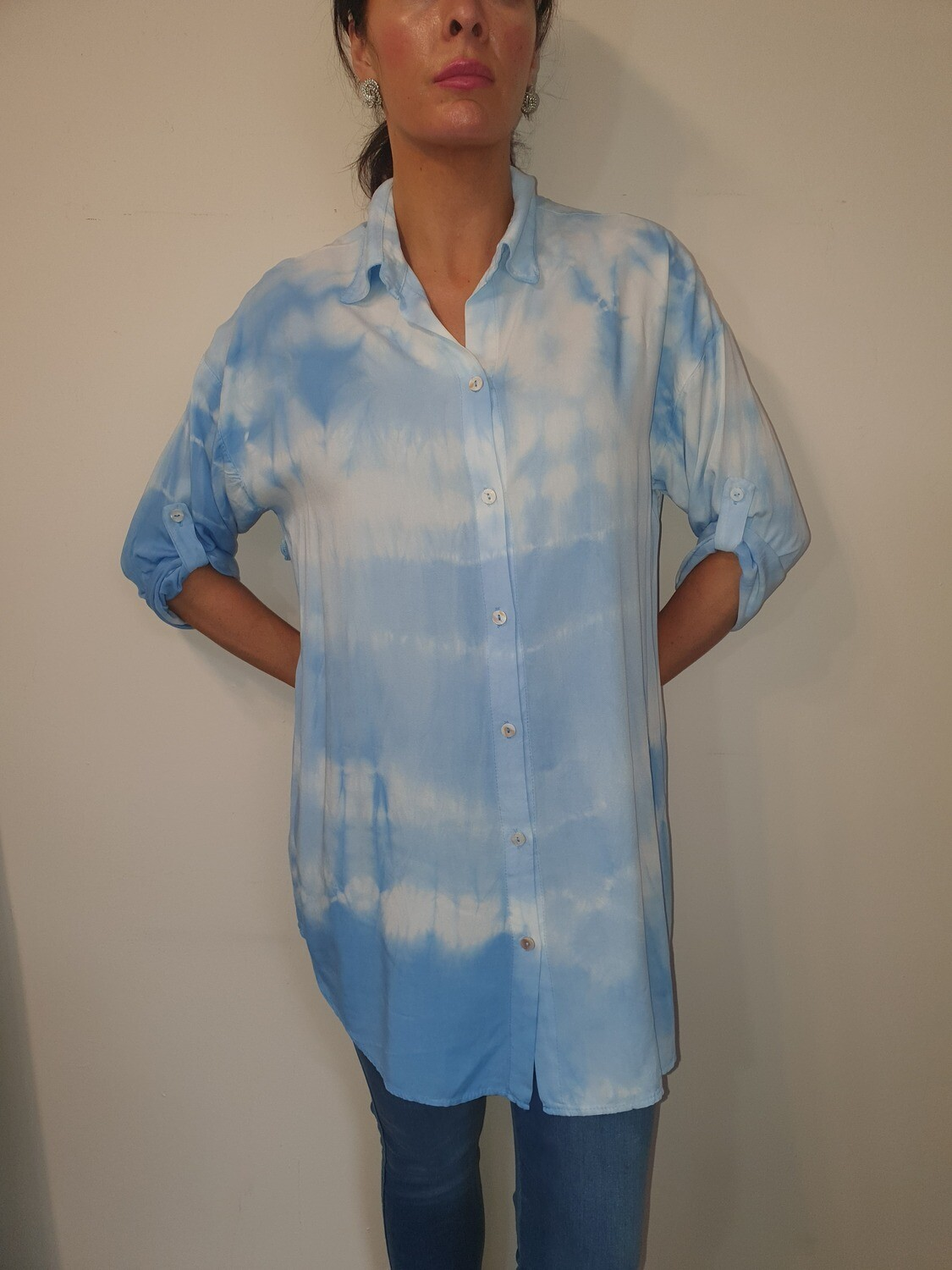 'Sky Tie Dye' Long Soft Shirt