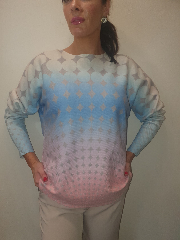 'Pastel Geo' Knit