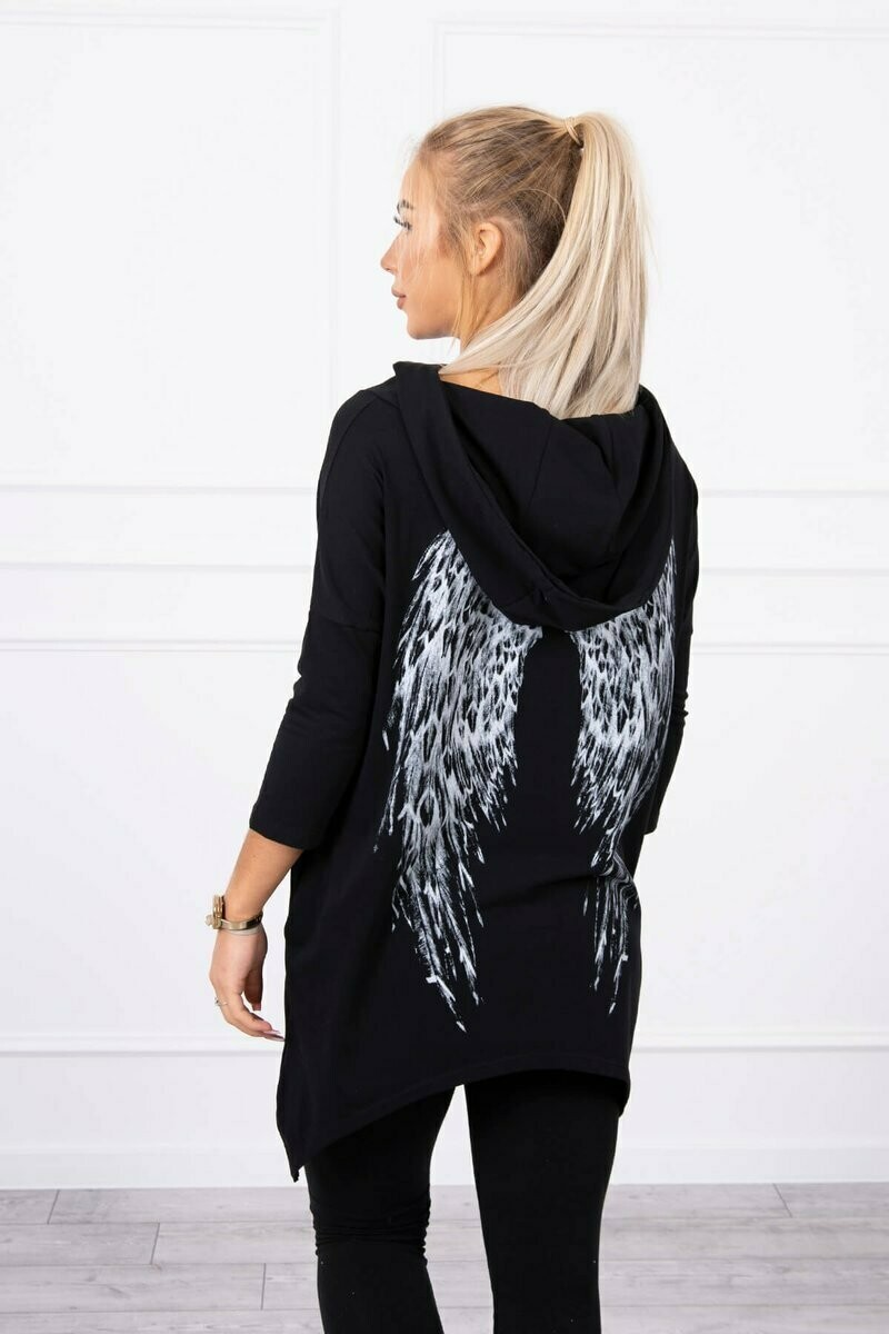 'Spring Angel' Swearshirt in Black