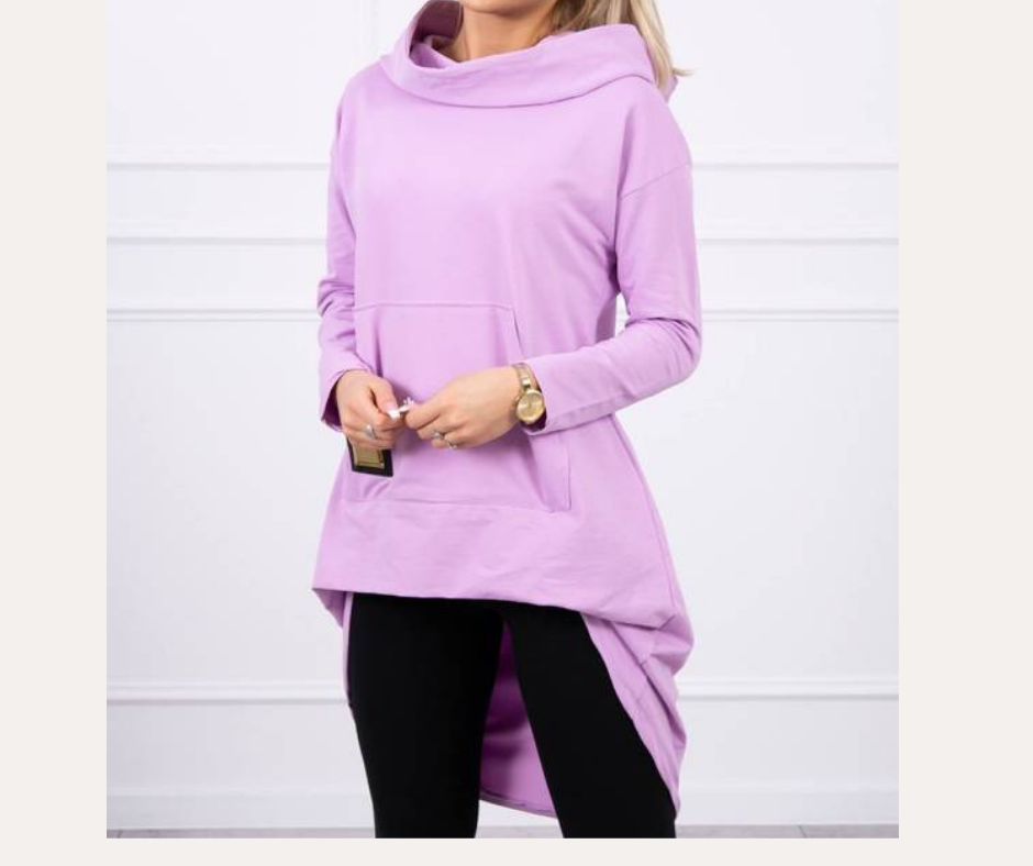 'Dipped Cowal' Sweatshirt in Lilac