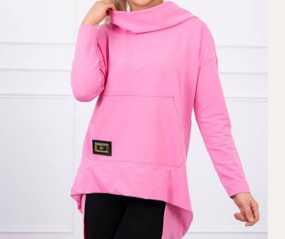 'Dipped Cowal' Sweatshirt in Bright Pink