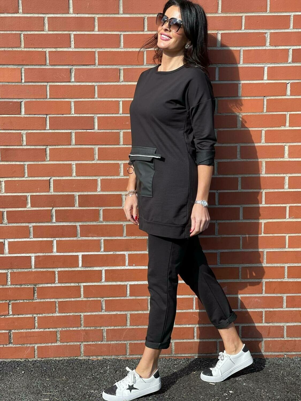 'Lydia Leisure' Set in Black