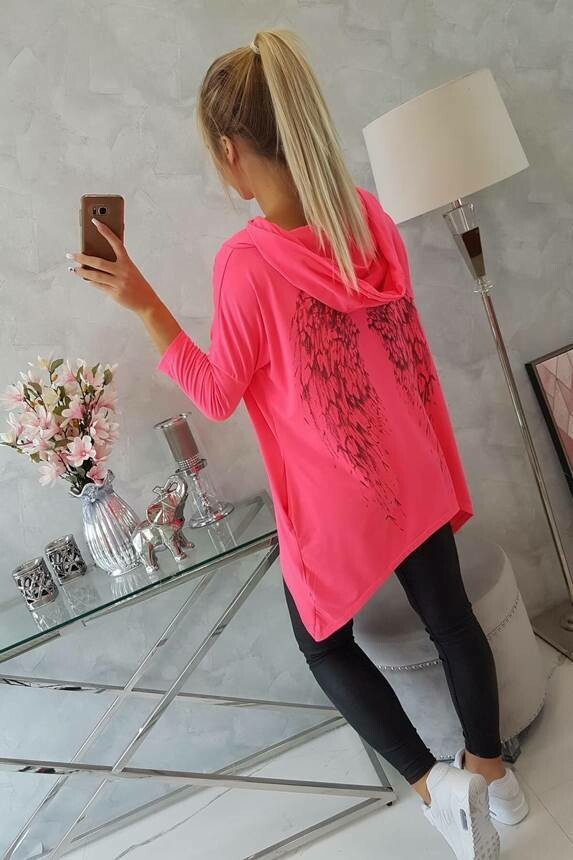 'Spring Angel' Swearshirt in Neon Pink