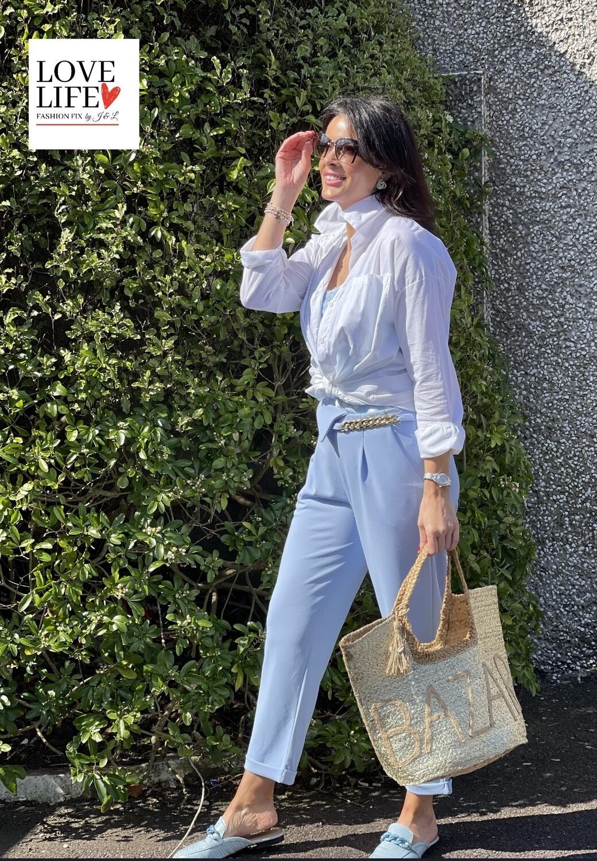 'Cool Cotton' Shirt in Bright Wnite