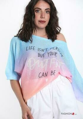 'Life Isn't Perfect!'  (but your outfit can be ) Pastel Shades Light Knit