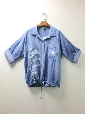 'Jolie' Linen Mix Shirt/Jacket