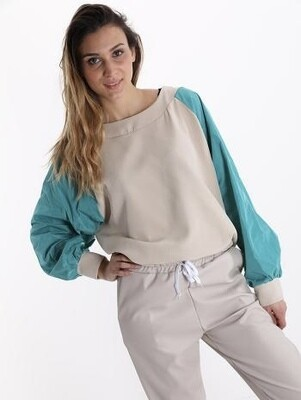 ' Christina ' Beige with Shell Material on Sleeve