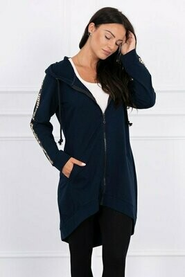 'Fashion Script Dipped Zipped Hoody' in choice of Colours