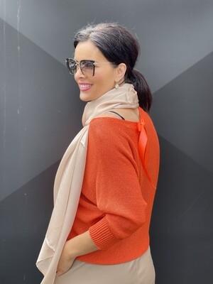'Tangerine Bow' Spring/Summer Knit