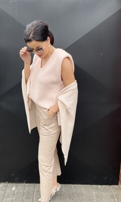 'Cristal' Padded Peach Knit with Diamante Detail (Limited Range)