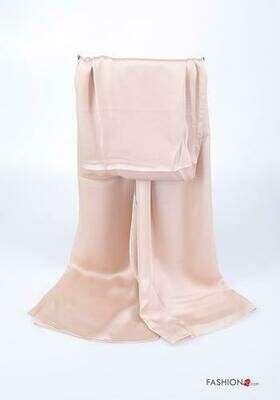 'Satin Stole' in Beige with a Hint of Pink