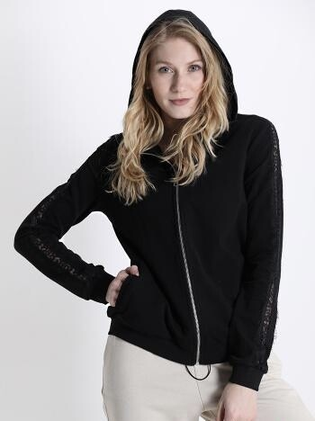 Lucy lace trim hoody