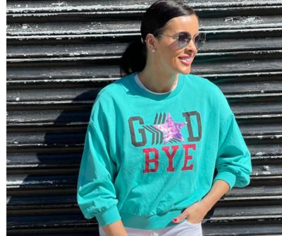 'Good Bye' Sweatshirt in Vibrant Green or Black