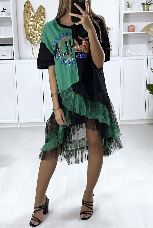 Bi- Colour Tulle dress