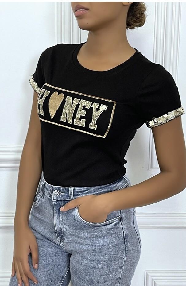 Honey Gold trimmed T